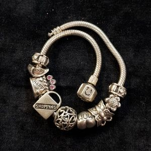 Early Sterling Silver Cham Charm Bracelet (Pm1)